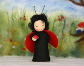 Ladybird / bug child / springtime / waldorf inspired / Nature Table