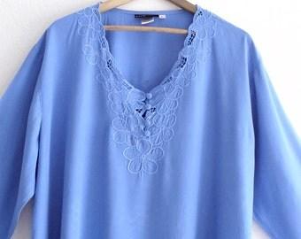Sale  Boho Sky Blue Lace Tunic