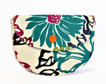 Floral Calypso Pacifier Pouch, Pacifier Pouch, Pacifier Holder, Coin Purse, Small Wallet, Card Holder, Small Wallet, Binky Pouch, Pacifier
