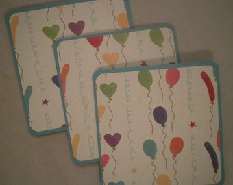 Mini Birthday Cards, Mini Note Cards, Mini Balloon Cards, Gift Tag Set, Handmade Mini Cards, Birthday Cards, Set of 8, Mini Cards