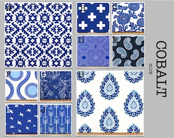 Custom Modern Baby Crib Bedding -Design Your Own- Cobalt