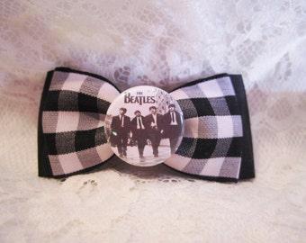 Beatles Gingham Hair Bow