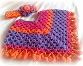 baby boncho-  baby clothes - baby accessories - baby crochet - baby crochet clothes - crochet clohtes - kids clothes - girls poncho -