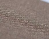 Linen cotton blend fabric by half yard Melange brown fabric