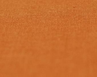 Linen fabric by half yard, Rust - orange fabric, Natural fabric, Soft linen, Rust linen, Orange linen fabric