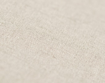 Soft neutral linen cotton blend fabric by half yard Sand brown color