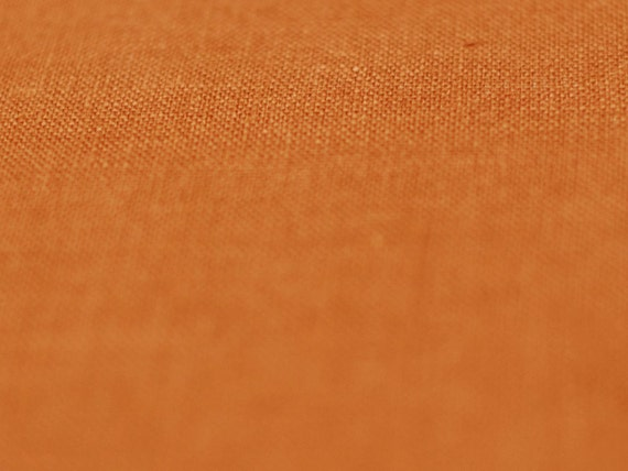 Linen fabric by half yard, Rust - orange fabric, Natural fabric, Soft linen, Rust linen, Orange linen fabric