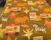 Vintage twin coverlet circus