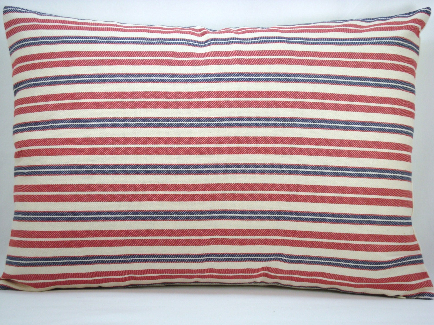red and blue stripelumbar pillow decorative pillow accent