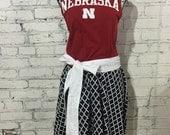 Nebraska Cornhusker Gameday dress - large - ready to ship
