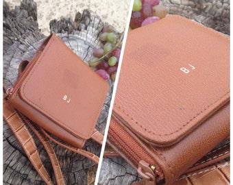 SALE 80s Lillian Vernon Monogrammed Belt Bag Accordion Wallet