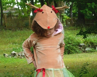 Little Reindeer Costume: kids christmas outfit, schristmas dress, Sven costume, dress up, Frozen, Christmas reindeer, girls christmas gift