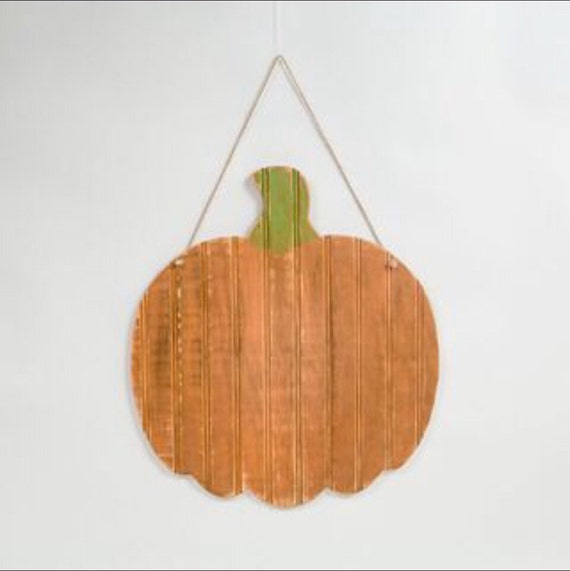 Rustic Wooden Pumpkin Hanger for Halloween & Fall