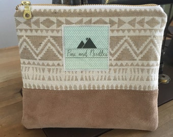 Tribal Suede Pouch