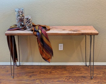 Entry Table, Console Table, Wood Table with Hairpin Legs, USA Made, Free Shipping