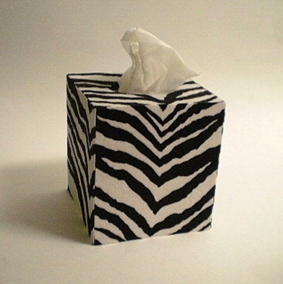 Zebra Print Tissue Box Cover Decorative Zebra By