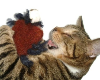 Cat Toy - Valerian Catnip Toy - Hand Knit Wool Felted Tick - Stinking BloodSucker - Perry