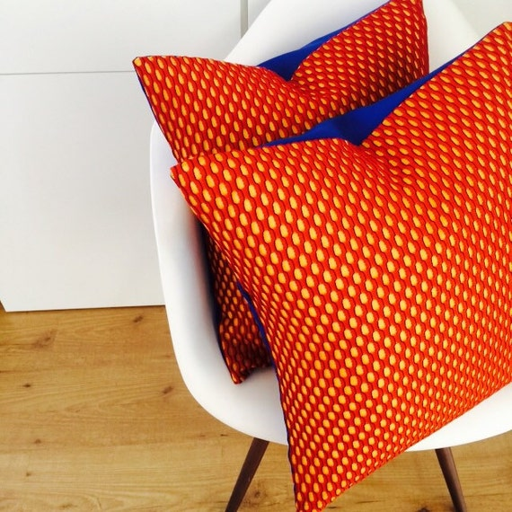 Mid Century Modern Pillow Cover : Mid Century Pillow Cover 20x20 Cushion Orange