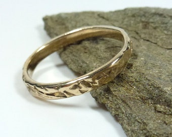 Thin Golden Bronze Stacking Ring, Bronze Ring, Suitable for Stacking