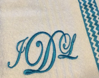 Adult Spa Towel Wrap / Personalized / Choose Color / Shower Gift / Holiday Gift / Wedding Gift
