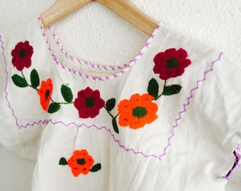 Folk embroidered blouse with skirt