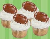 Football Cupcake Topper Rings, 12 Football Cupcake Toppers, Cupcake Rings, Party Favors, Plastic Charms, NFL, College Football
