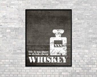 Good Whiskey Art Print