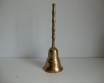 Large Brass Bell, School Bell, Brass Dinner Bell