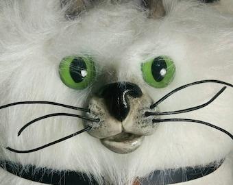 White Plush Devil Cat
