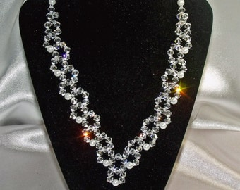 Swarovski Crystal and Pearl Necklace