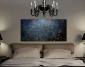SALE + FREE SHIP Large Wall Art Abstract art, Contemporary art, Painting Original abstract Cosmic Universe Night Sky Painting,