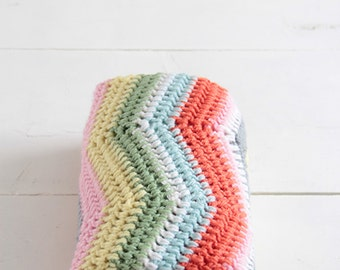Crochet baby blanket ripple pattern --> english PDF PATTERN