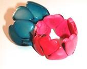 SALE: Set of Two Heart Shaped Tagua Bracelets
