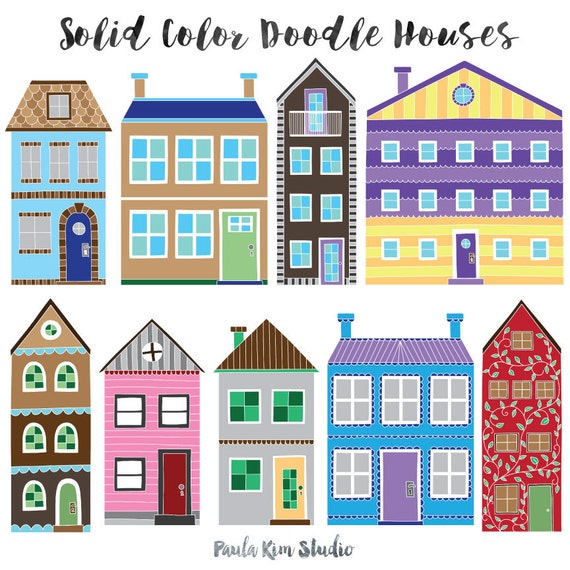 Digital Graphics Bright Housewarming Clipart Handmade