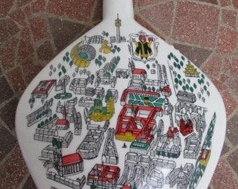 German Liquor Bottle, Souvenir Munich Germany, Vintage Barware, Wine Decanter, Collectible Souvenir