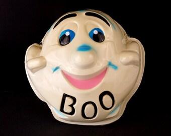 "Vintage Ghost Mask ""BOO"" for Halloween (c1950s) N1 Large Mask - Halloween Decor, Costume or Pumpkin Mask"