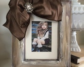 Portrait Frame Rustic Bow Jewel Diamond Bling Personalize Customize Wedding Family Girl Bride Portrait