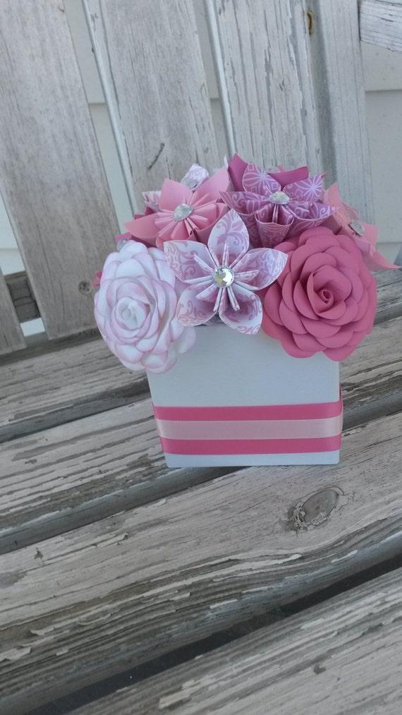 Origami paper flower centerpiece kusudama rose