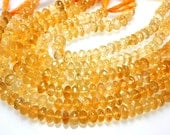 8 inches so gorgeous citrine faceted roundels beads great color aaa quality size approx 6mm