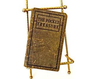 Antique Book, The Pocket Treasury, ca 1899, Spiritual Book, Religious Book, Christian Book, Bible Book