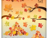 Fall/ autumn branches & leaves PLUS digital backgrounds. For small commercial and personal use.