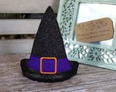 Witch Hat- Costume Accessory - Glitter Hat on Headband