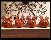 Mini Personalized Pumpkin