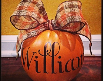Personalized Mini Pumpkin