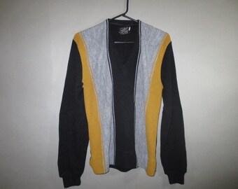 SALE***1950's-60's Men's Orlon Sweater //  D'Italia by Campus Pullover // Vee Neck, Pullover...small