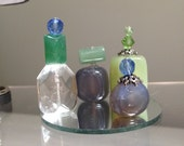 Perfume Bottle Vanity Set in Blue and Green 6th Scale