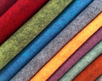 Heathered Merino Wool Blend Felt - 20 colours