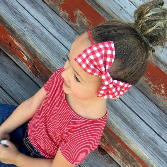 NEW APPLE ORCHARD Large Bow Headband or Clip - XLarge Bow Tie Headband - Fall, girl, baby, toddler, woman, bow