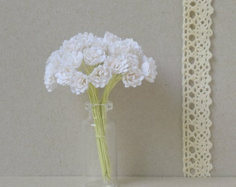 10 mm   /  15   white paper  flowers , gypsophila  paper  flowers