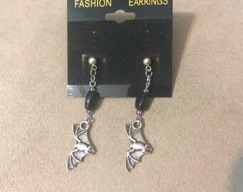 Halloween Bat Dangle Earrings